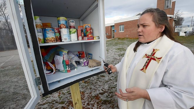 The Rev. Katie Brantner said she is excited to see how the Community Pantry Box is used.
