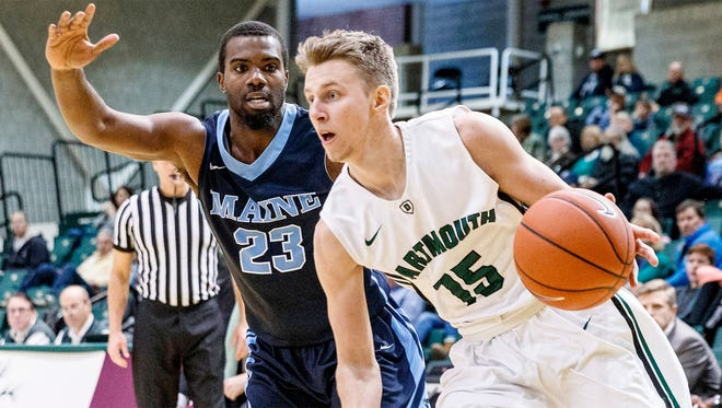 Brendan Barry (right) is getting time and hitting shots at Dartmouth.