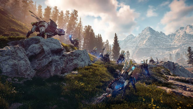 "This image released by Sony Interactive Entertainment shows a scene from ""Horizon Zero Dawn."" (Sony Interactive Entertainment via AP)"