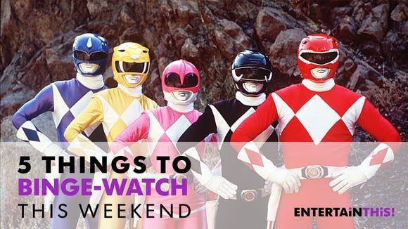 The 'Power Rangers' look best in cheap uniforms.