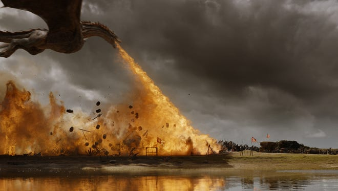 """This photo provided by HBO shows a scene from Season 7, Episode 4 of """"Game of Thrones."""" The great houses of Westeros are falling on """"Game of Thrones,'' one by one. Could a more just, equal society emerge from the rubble?"""