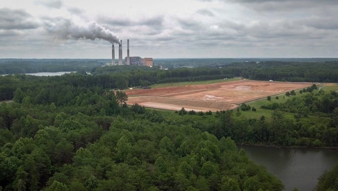 Some people living near coal-fired power plants such as this one in Belews Creek, N.C., have been relying on bottled water for over two years since high levels of certain chemicals were found in their well water.