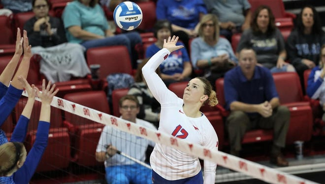 Former Piedra Vista volleyball player Katie Hegarty is now the top hitter for Southern Methodist University, an NCAA Division I program in Dallas.