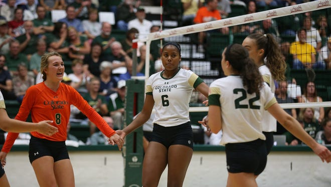 The CSU volleyball team swept Albany on Friday.