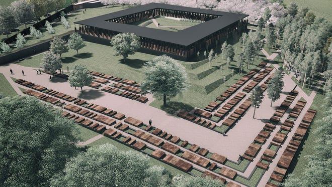 Artist's rendering of the memorial.