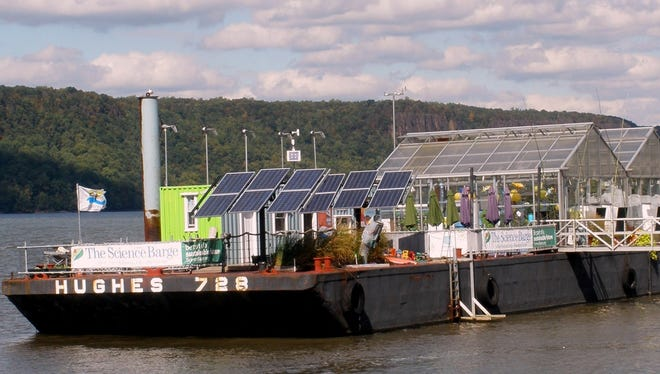 The Science Barge, a prototype sustainable urban farm and educational center, powered entirely by solar, wind and biofuels, offers fun and educational activities in Yonkers.