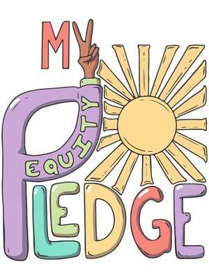 The Mohawk Valley Equity Pledge logo, designed by local artist David Mentus.