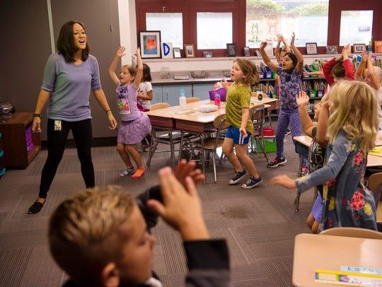 As J.H. Castle first grade teacher Charlena Dan's class