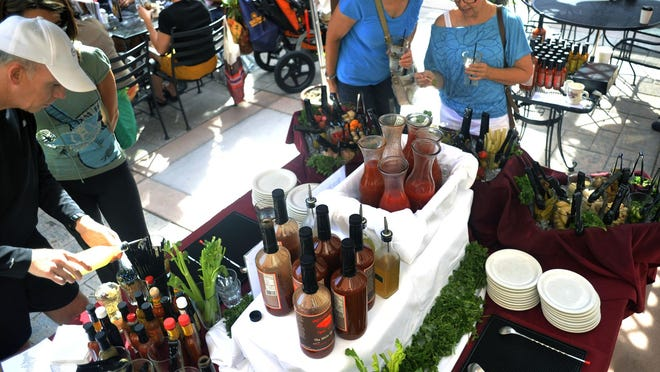 The World's Biggest Build-Your-Own Bloody Mary Bar debuted at the Silver Grill in Old Town Fort Collins in 2012.