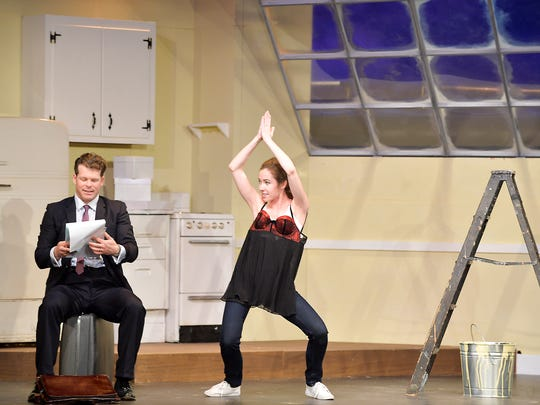 """David Polgar and Sarah Robertson star in Candlelight Theatre's """"Barefoot in the Park."""""""
