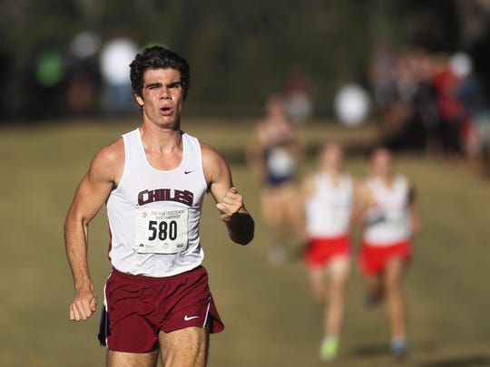 Chiles junior Michael Phillips an FHSAA Class 3A state cross country championship at Apalachee Regional Park this fall.