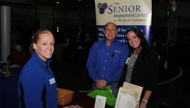 Senior Helper staff member Colleen McDonald, Farmington Hills City Council member Richard Lerner and Botsford Commons Business Development Manager Colleen Kashawlic at last year's Greater Farmington Area Chamber expo.