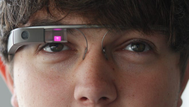 Taylor Jones demonstrates how to use Google Glass.
