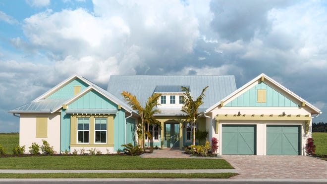 Homes built recently are in a more modern or coastal style. Homes like these at Mercato or Naples Reserve have either a sleek white modern look or a Key West coastal appearance.