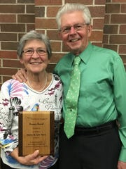 Wally and Lois Nass, of Watertown were presented with the Pioneer Award