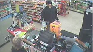 Surveillance image from robbery of The Gas Stop