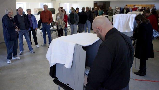 Voting at Yorktown Church of the Nazarene in November 2012.