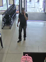 Farmington Hills Police are searching for three suspects who stole $4,000 worth of blue jeans from a department store.