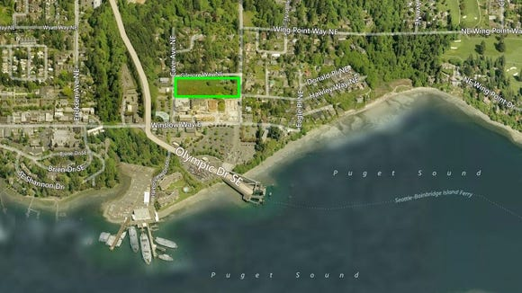 The Bainbridge Landing development is planned just north of the ferry terminal.