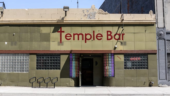 The Temple bar in Detroit is one of the oldest surviving businesses near the new Little Caesars Arena on Monday, Aug. 21, 2017.