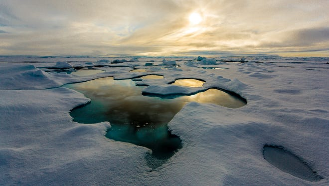 Experts at the Alfred Wegener Institute of the Helmholtz Center for Polar and Marine Research report that ice samples from five regions throughout the Arctic Ocean contained up to 12,000 microplastic particles per litre of sea ice.