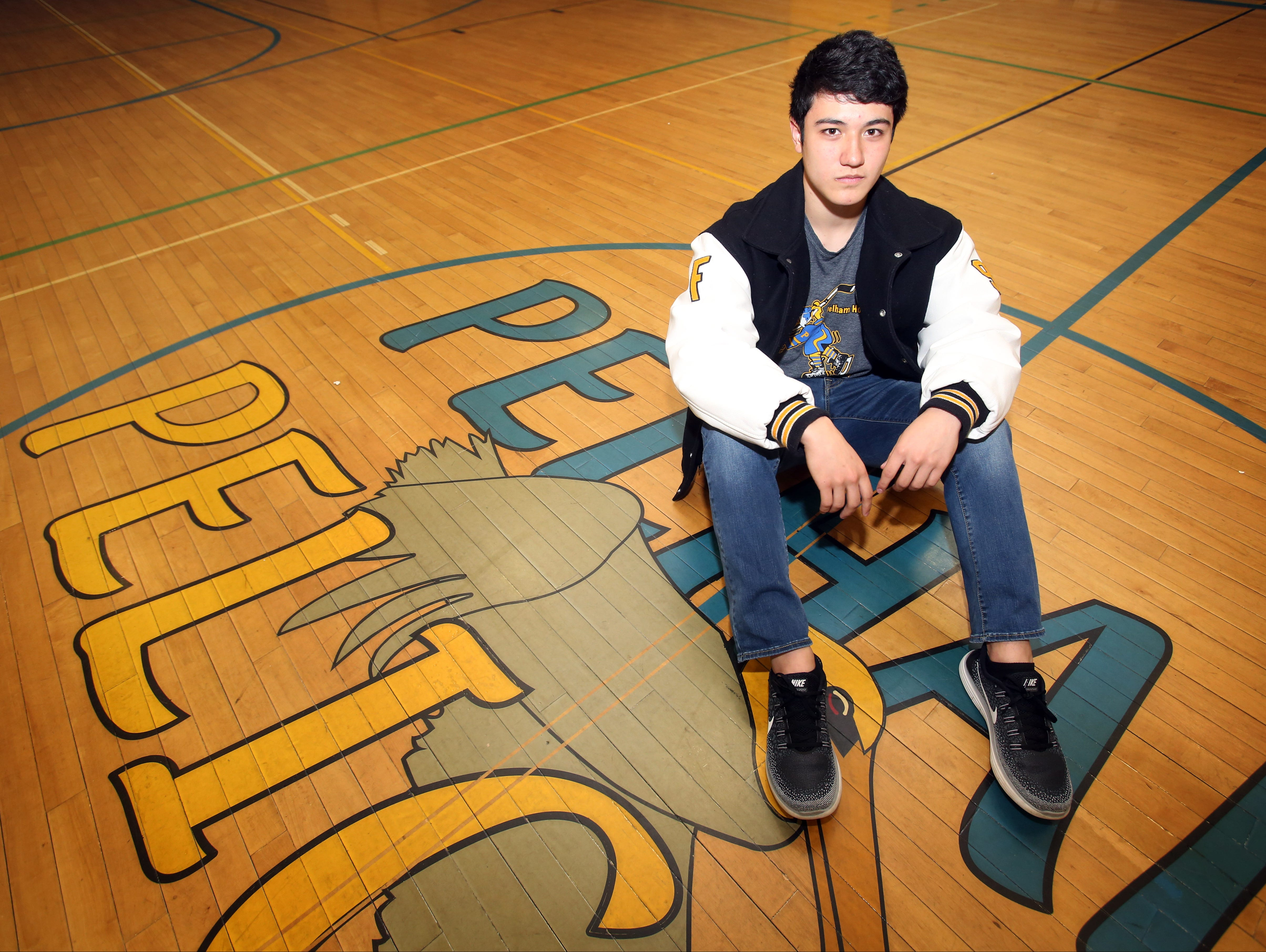 Pelham junior forward Ben Hurd is The Journal News hockey player of the year. Hurd was photographed at Pelham Middle School on April 6, 2016.