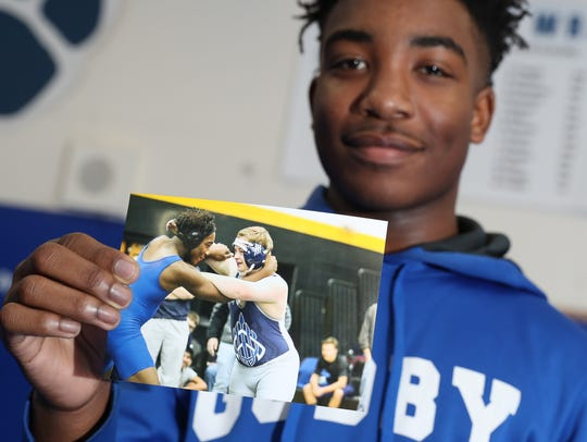 Julian Green, a freshman wrestler at Godby High School,