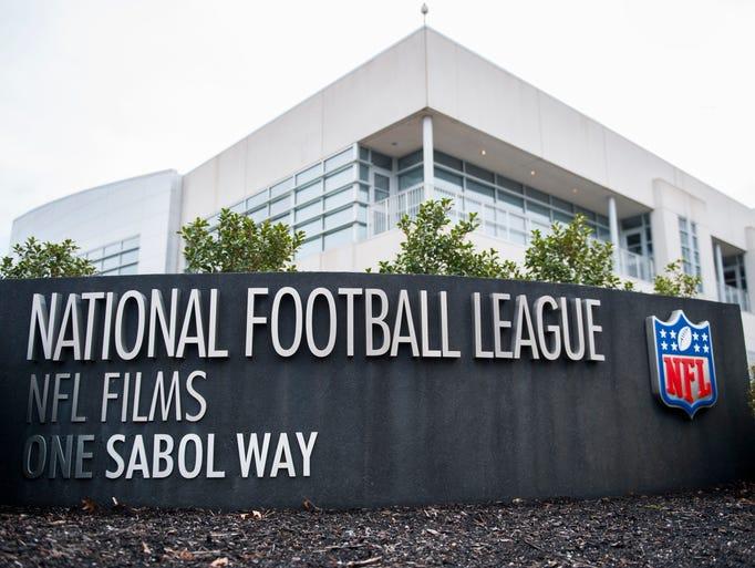 Exterior of NFL Films headquarters in Mount Laurel.
