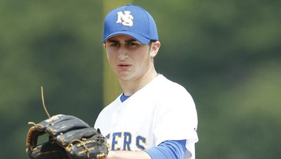 North Salem's Danny Capra (3) pitched in a 4-0 win