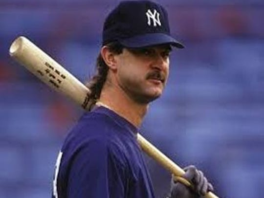 Don Mattingly is seen with facial hair when he was with the New York Yankees.