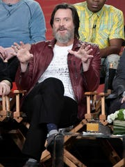 "Jim Carrey attends the ""I'm Dying up here"" panel at the Showtime portion of the 2017 Winter Television Critics Association press tour on Monday, Jan. 9, 2017, in Pasadena, Calif."