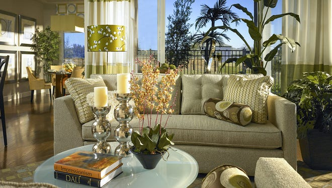 In a space designed by Beasley & Henley Interior Design, greenery creates an energetic environment inspired by nature.