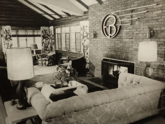A vintage photo of the main room in the home off High