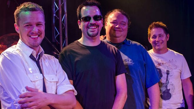 Members of 4 Jax (from left): Jake Simpson, Justin Ward, Donnie Inman and Bart Kelley. They're playing a reunion show at the Regency Saturday.