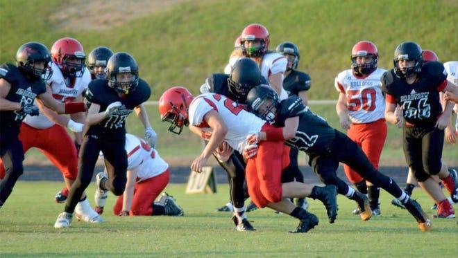 Fairview Falcons defeat Hickman Bulldogs 44-8 on September 8, 2016.