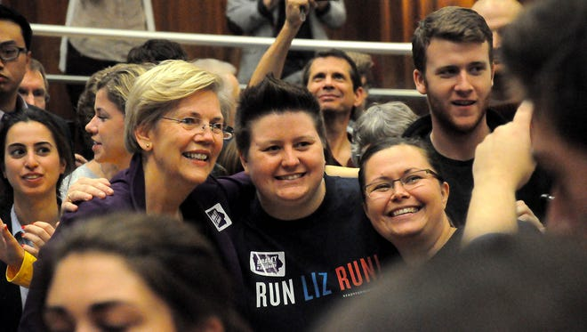 Senator Elizabeth Warren rallies Iowa this weekend with Bruce Braley making an appearance at University of Iowa IMU. Sunday, October 19th. Photos for Press Citizen by Juan Carlos Herrera.
