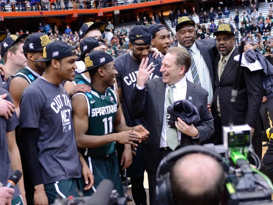 Tum Tum Nairn (11) started at point guard as a freshman on the 2014-15 MSU team that reached the Final Four.