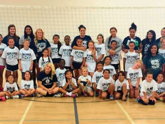 Courtesy Photo   The Silver HIgh volleyball team hosted its first youth camp and it drew 56 participants. The camp ended Thursday.