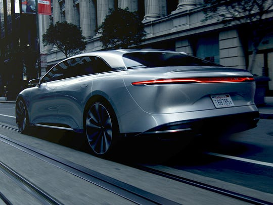 The Lucid Air electric sedan would go head to head