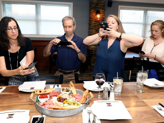 Jeanne Muchnick, left, the food and dining writer at