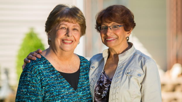 As shown in photo: Helen Adornato (left), Esther Perez (right)
