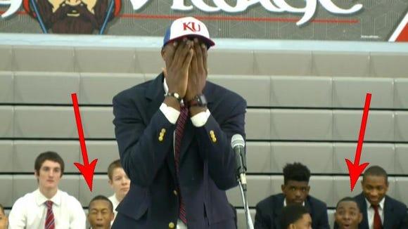 Carlton Bragg during his announcement