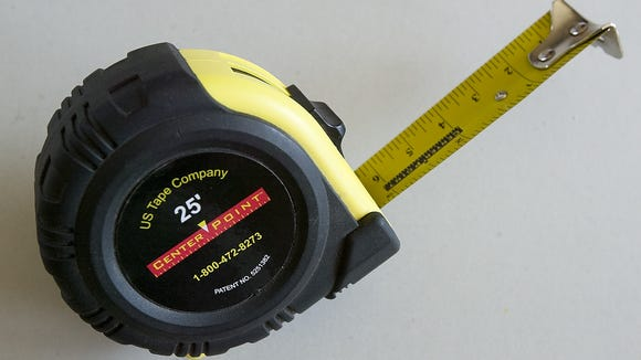The diamonds on a tape measure can be a carpenter's best friend.