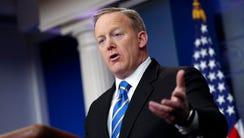 White House press secretary Sean Spicer responds to