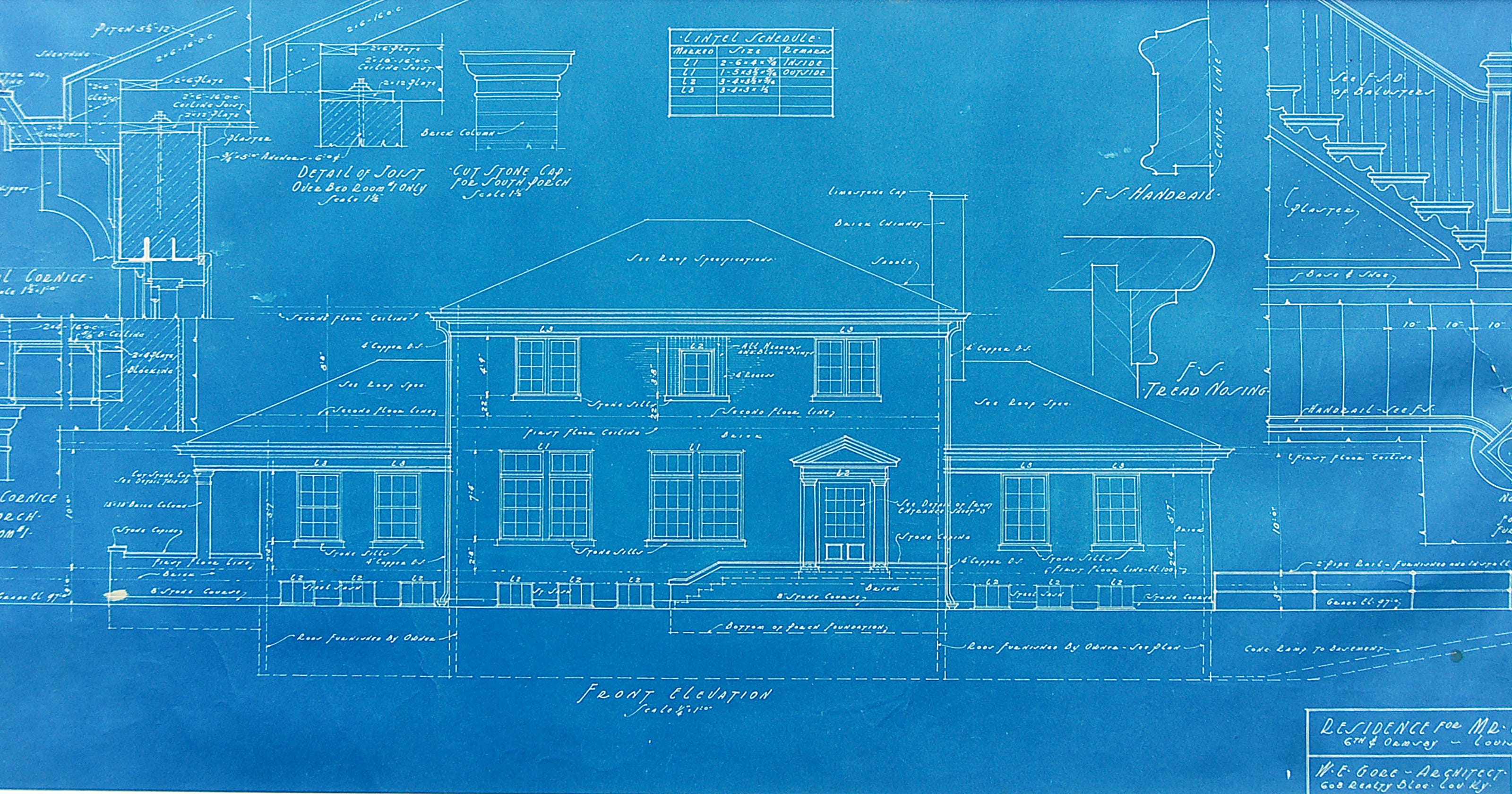 blueprints architectural height width story