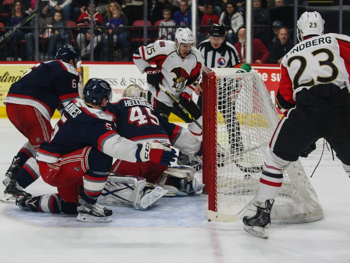 The Binghamton Senators defeated the Hartford Wolf