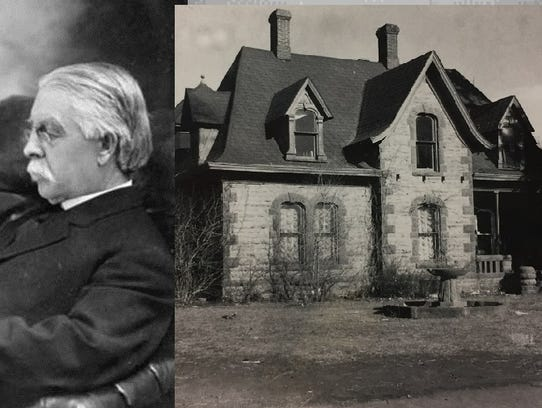Franklin Avery built the stately sandstone home at