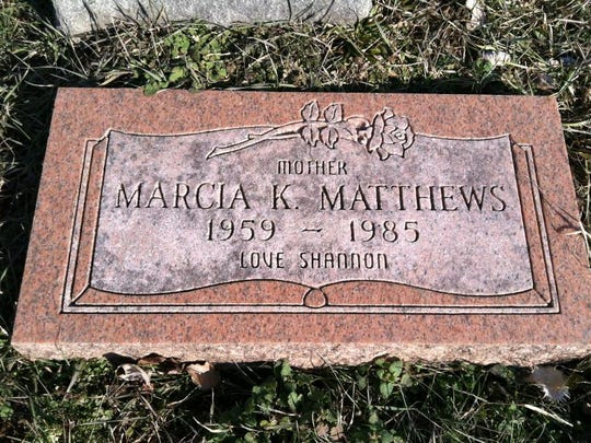 Marcia K. Matthews is buried in Newark, Ohio. Her mother Rosalie Culpepper also is laid to rest here.