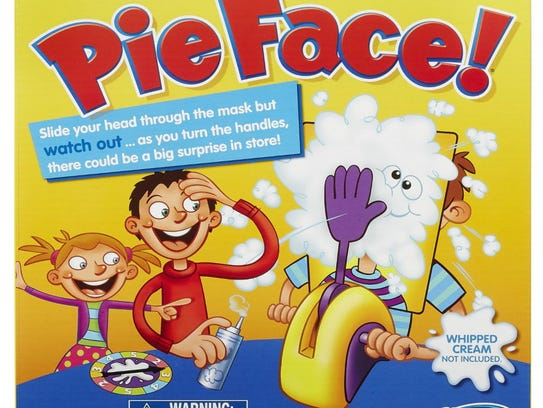 Pie Face! lets kids get smacked in the face with whipped