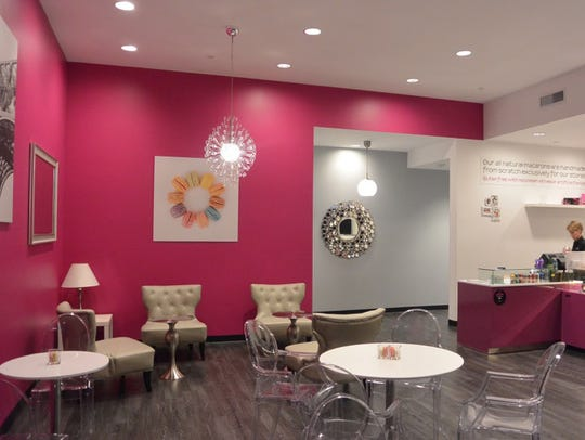 Interior of Le Macaron French Pastries in Scottsdale.